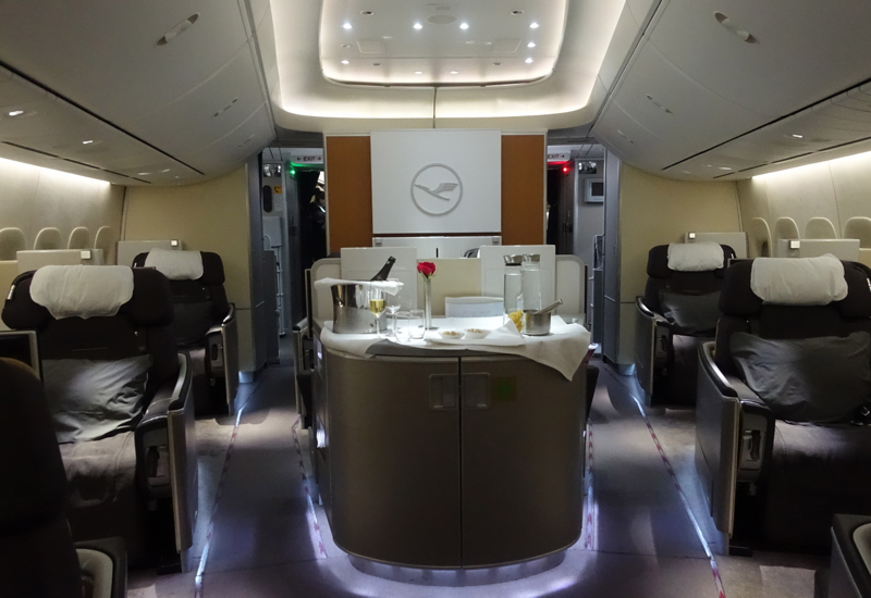 Review Lufthansa First Class 747-8 NYC to Frankfurt