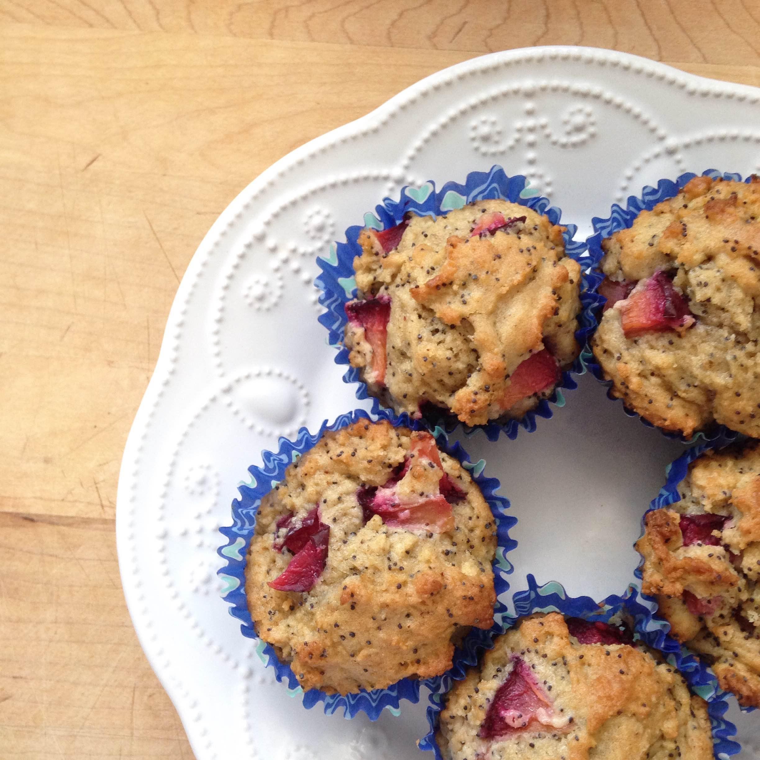 'Summer's Haul' Plum Poppy Seed Muffins