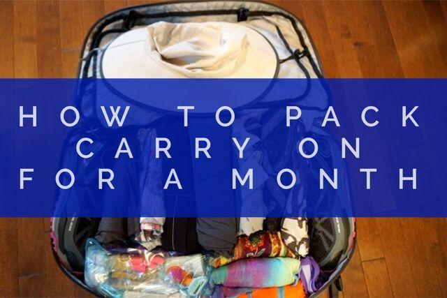Packing Carry On For A Month - How To Travel Light - Travel Tales - work apology letter example
