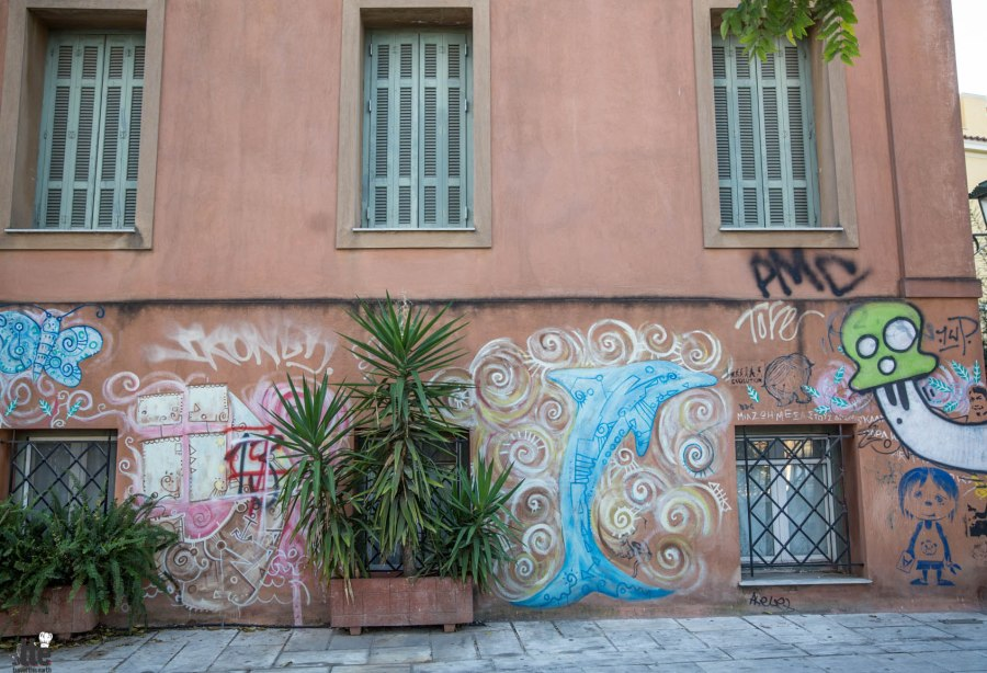 Street Art & Life in Plaka Greece-13