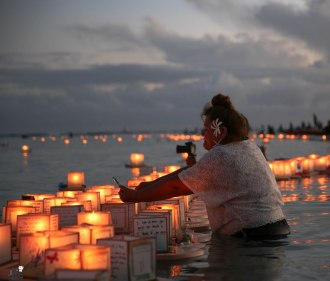 Floating Lantern Ceremony Honolulu Hawaii 2014 -8