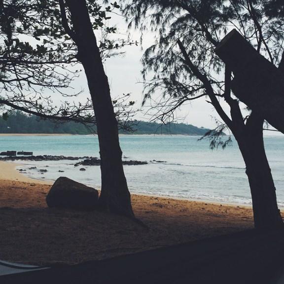 Anahola beach dawn