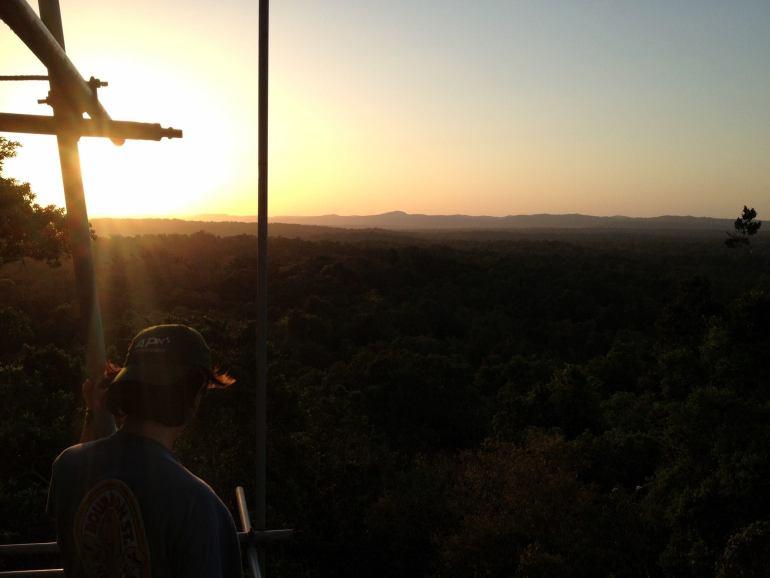 Sunset in Tikal, Guatemala