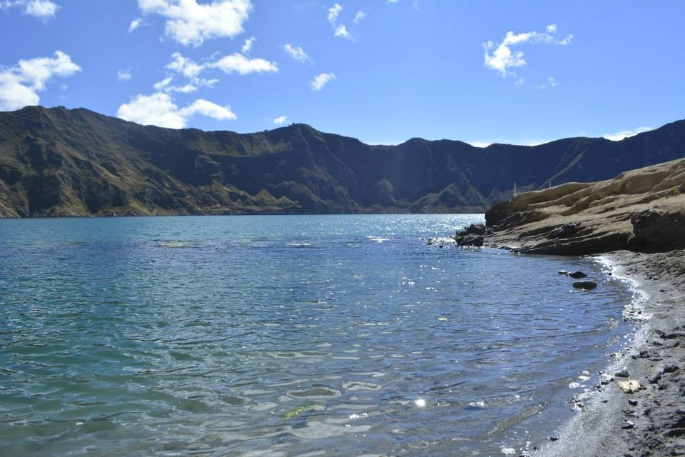 View from the bottom of the Laguna de Quilotoa