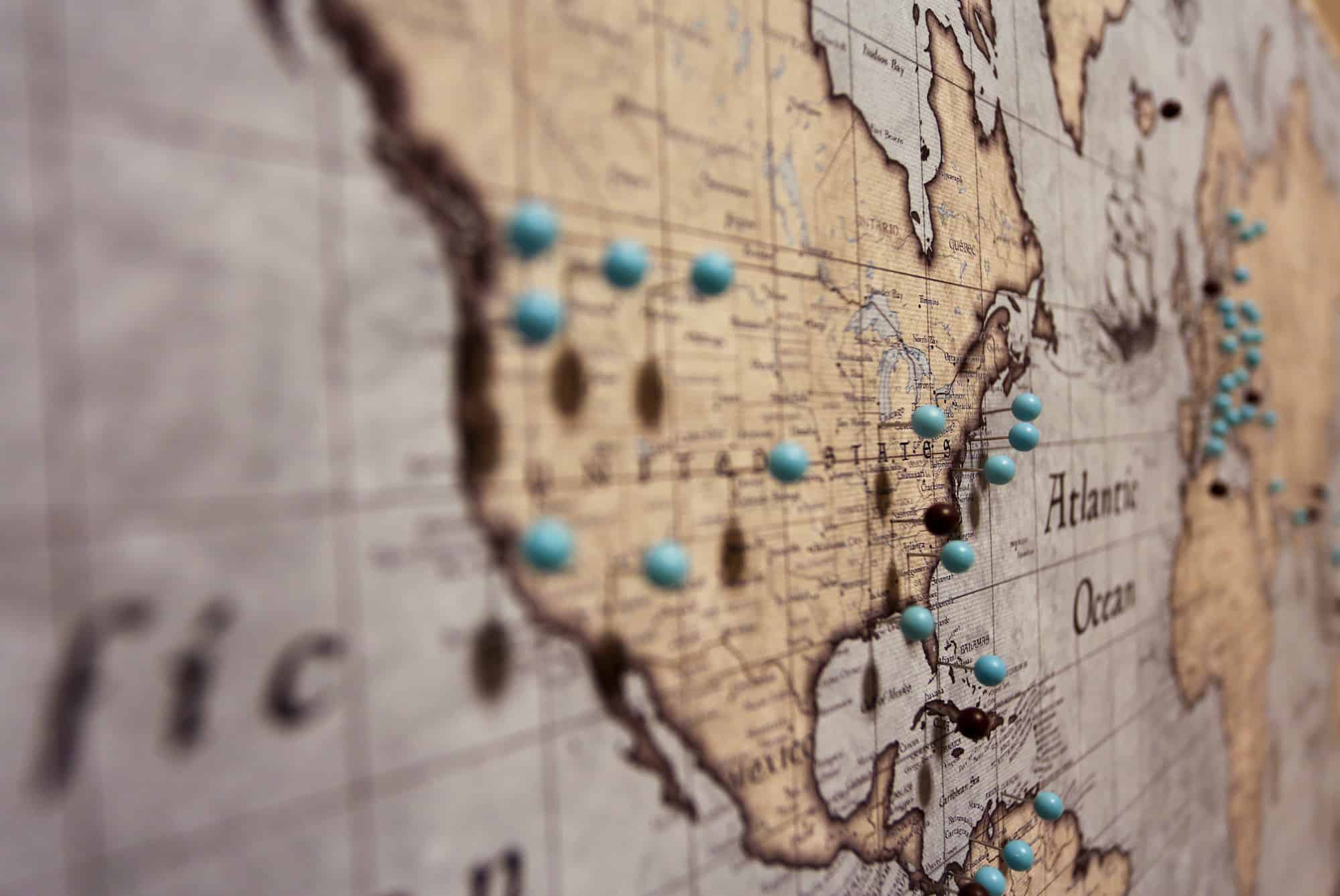 Rustic Vintage World Pin Board Map Review