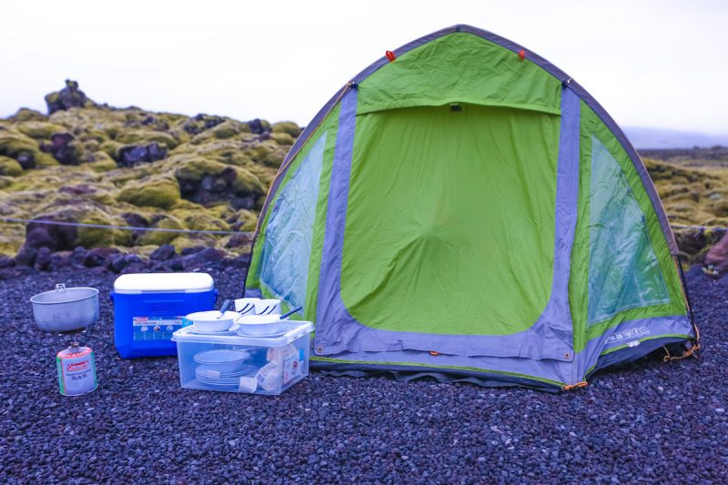 Camping in Iceland Over the Summer