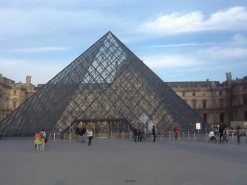 Glass pyramid outside the Louvre