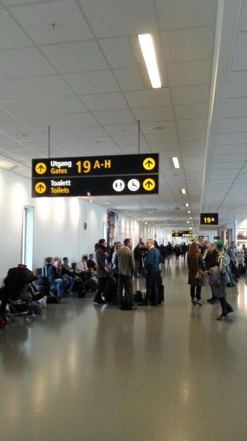 Gate 19 at Gardermoen Airport Oslo