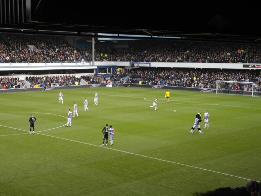 A football match during a previous trip to London