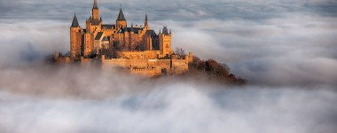 Burg Hohenzollern above the clouds