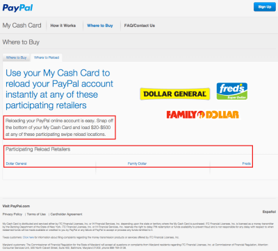 New PayPal My Cash Cards and Online Loading Process (Light Blue PPMCC 0215v1)