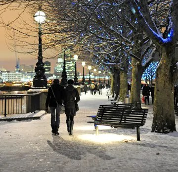 Walking in a winter wonderland… London in the snow