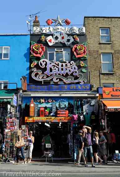 London days out camden 39 s markets restaurants pubs and for Tattoo places open late