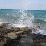 Great-Stirrup-Cay-Water-Hitting-Rocks-TravelXena-3