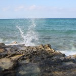 Great-Stirrup-Cay-Water-Hitting-Rocks-TravelXena-6