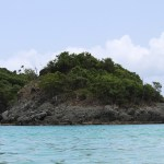 Small Rocky Island with Seagulls Trunk Bay St John USVI TravelXena