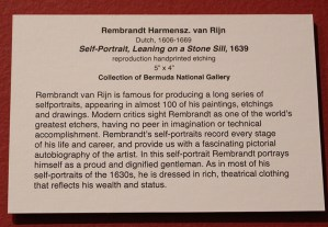 Leaning on a Stone Sill Rembrandt Bermuda National Gallery Travel Xena 2