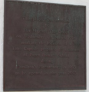Plaque in front of Bermuda National Gallery Travel Xena 1
