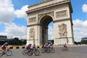 Tour de France bike race through Paris
