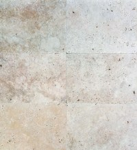 LIGHT IVORY TRAVERTINE TILES & PAVERS TUMBLED UNFILLED ...