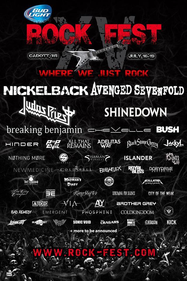 Rock Fest 2015 Bands