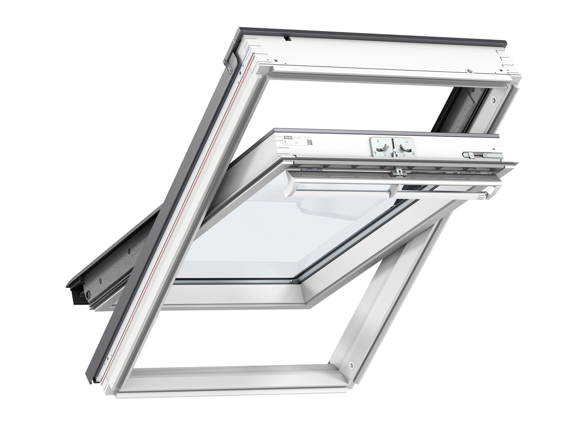 Ggl Mk04 Velux Centre Pivot Roof Window 780mm X 980mm White Painted Ggl