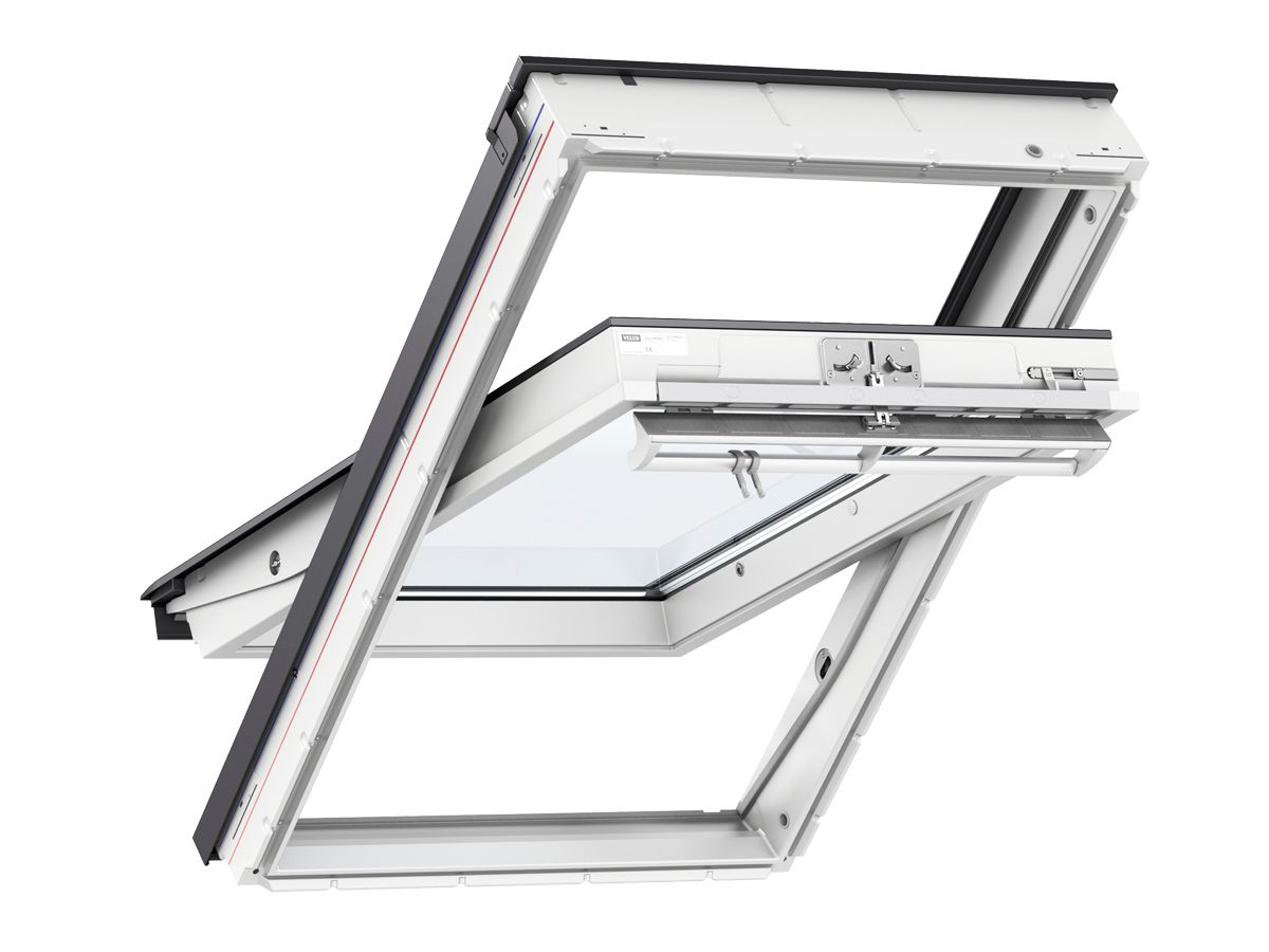 Ggl Mk04 Velux Centre Pivot Roof Window 780mm X 980mm White Painted Ggl Mk04 2060