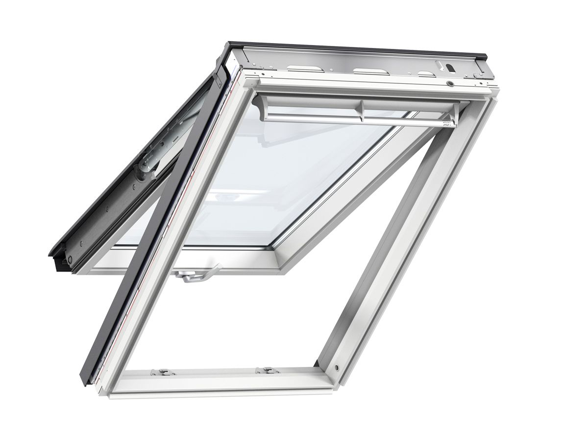 Ggl Mk04 Velux Integra Solar Roof Window 780mm X 980mm White Painted Ggl Mk04 206030