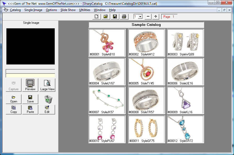Gemsoft Treasure Jewelry Software with Imaging and Loose Diamond