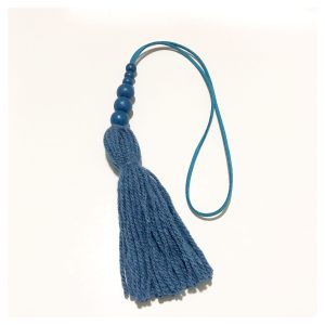 Blue tassel wall hangings