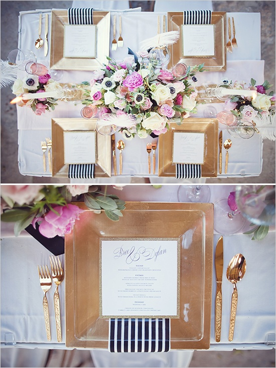 Stunning Black White And Pink Wedding Table Settings Pictures - Best