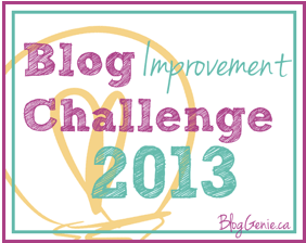 blog improvement challenge 2013