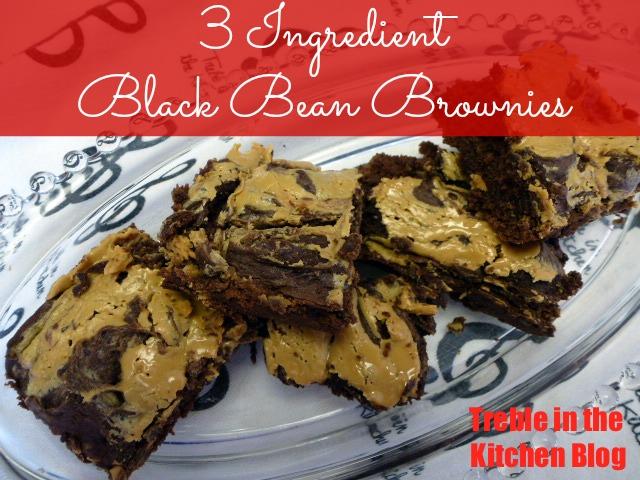 Black bean pb brownies text
