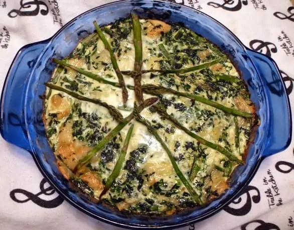 Spinach Asparagus Swiss Quiche 2