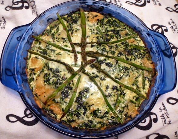 Spinach Asparagus Swiss Quiche 2