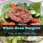 white bean burgers via treble in the kitchen