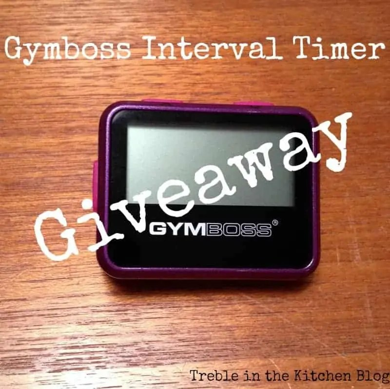 Gymboss Interval Timer Giveaway via Treble in the Kitchen
