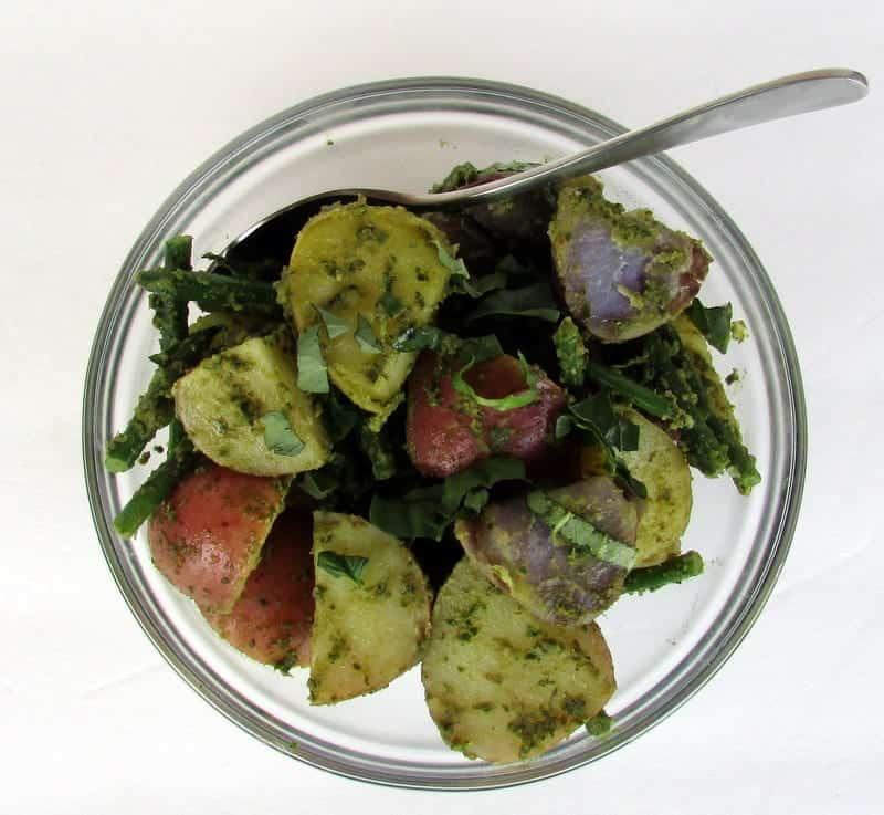 Pesto Potato Salad from Treble in the Kitchen