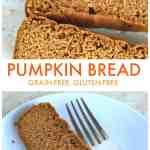 Grain Free Pumpkin Bread from Treble in the Kitchen #lowFODMAP #paleo #glutenfree