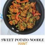 Sweet Potato Noodle Peanut Stir Fry