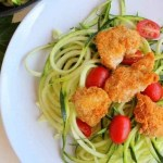 Lemon Herb Zoodles with Almond Chicken