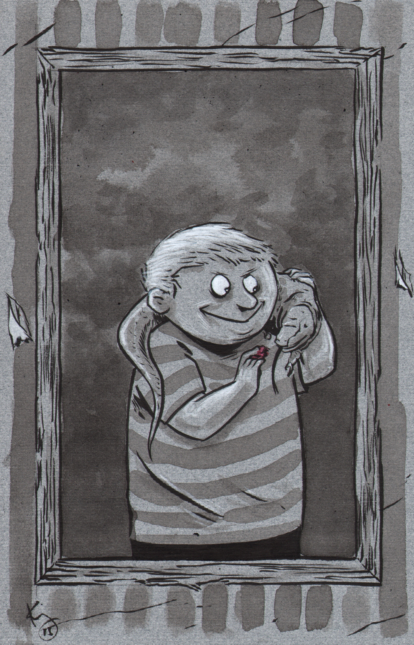 Fester Addams Inktober 2015, The Addams Family! (and What's Been Going