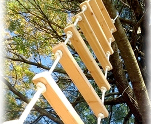 Trap Ladder Treehouse Supplies | Plans, Bolts, Kits, Zip-lines