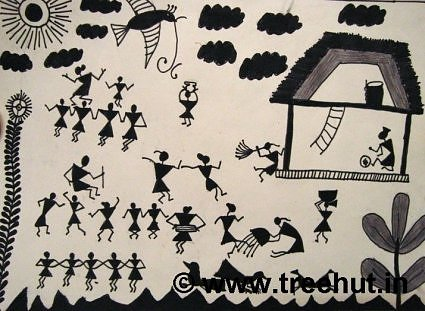 Life Is A Gift Quotes Wallpaper Warli Art By Children
