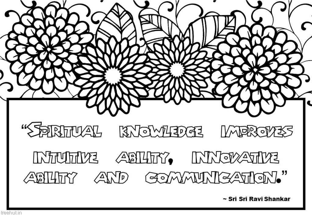 Clipart Images Pencil Meditation Quotes Coloring Pages By Sri Sri Ravi Shankar