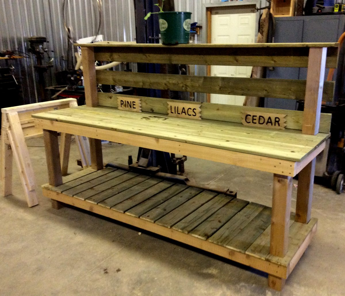 Potting bench made easy tree planting with organics gadgets and