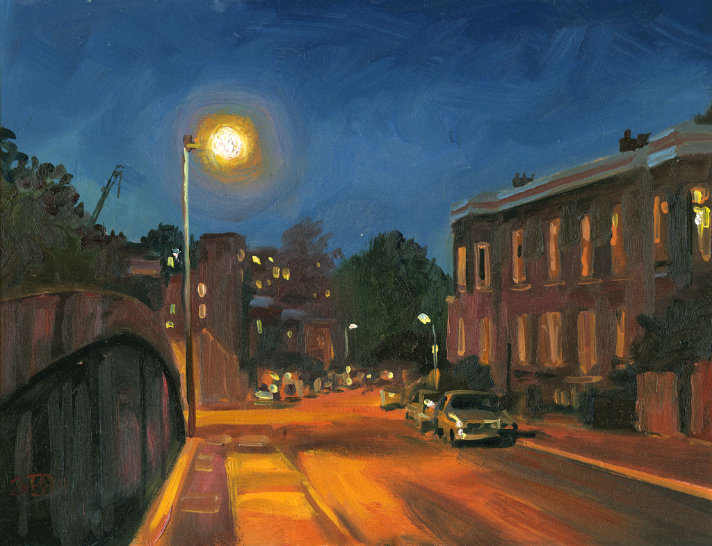 Street Light At Night Painting June 2011 Rob Adams A Painter 39s Blog