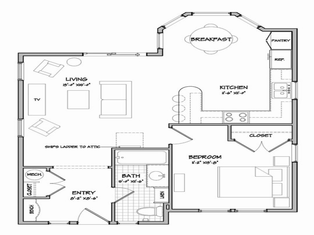 Tiny Home Floorplans Simple Small House Floor Plans Cottage Floor Plans And
