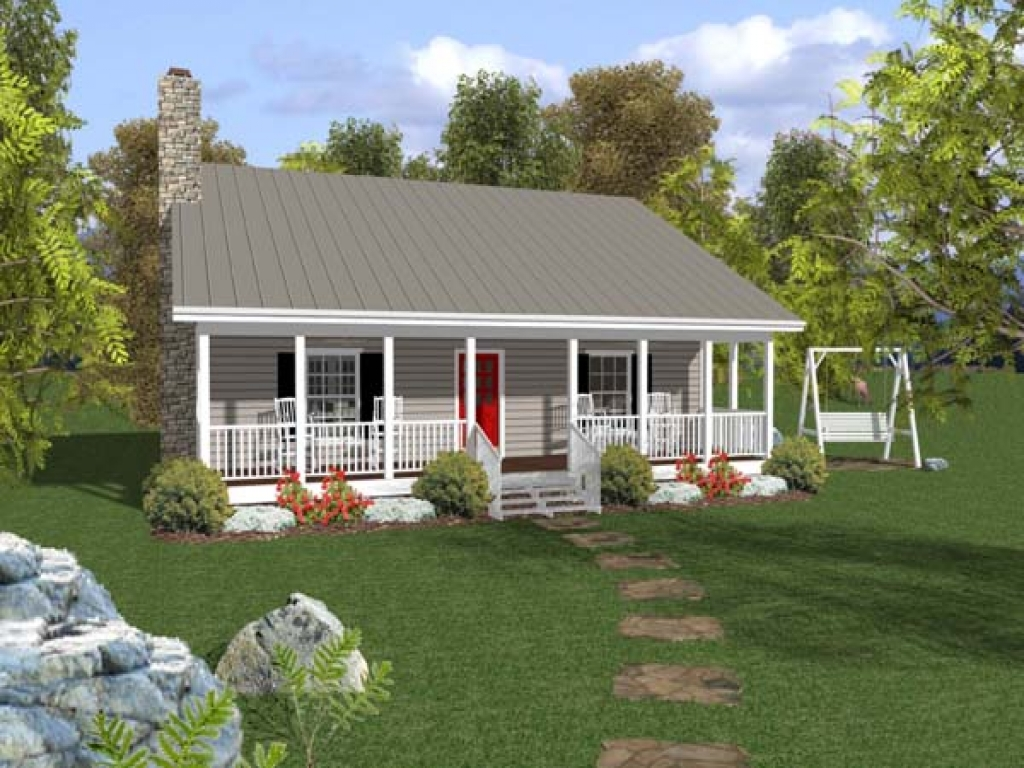 French Country Small House With Wrap Around Porch Small Rustic House Plans Small Ranch House Plans With