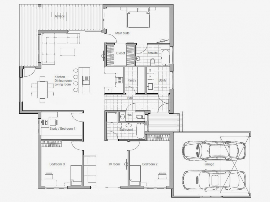 Small 3 Bedroom House Affordable 3 Bedroom House Plans To Build 3 Small House